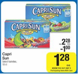 FREE Capri Sun 10 Pack at Kroger and Walmart with Price Match