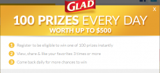HOT! Play the 100 Ways to Get Glad Instant Win Game! Win 1 of Over 35,000 Prizes!